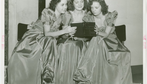 "Manuscripts and Archives Division, The New York Public Library. ""U.S. Steel - Happy Harmonettes - Reading book"" The New York Public Library Digital Collections. 1935 - 1945"
